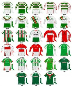 Cork City Home Kits 1984-Present