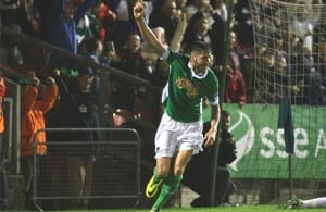 Darren Dennehy celebrates
