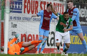 Djilali scores in Drogheda